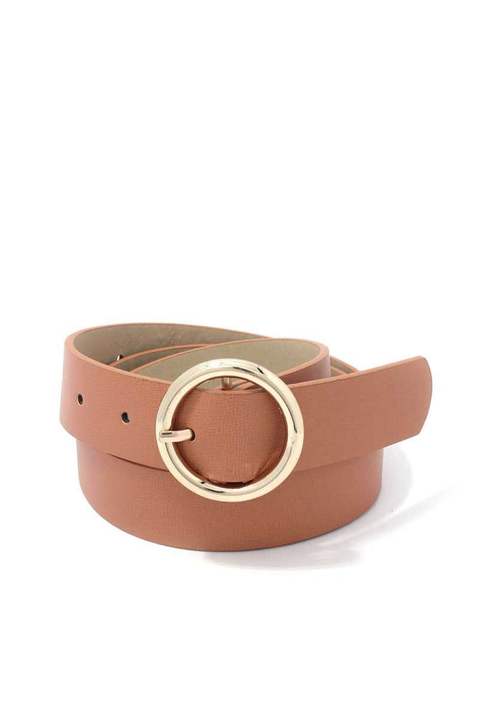 Metal Ring Pu Leather Belt