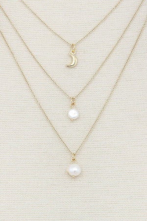 Sexy Chic Pearl 3 Layer Necklace
