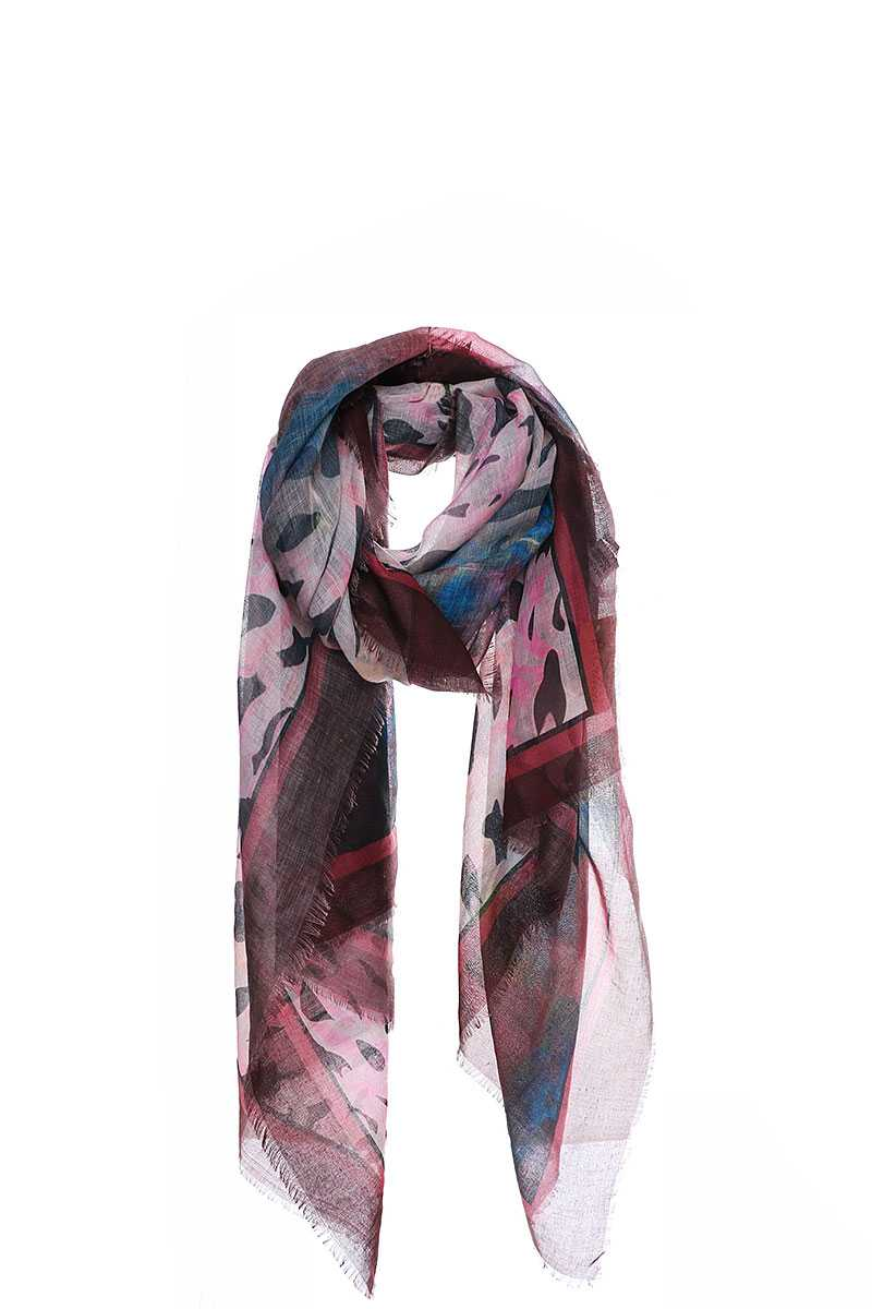 Stylish Multi Color And Pattern Print Scarf
