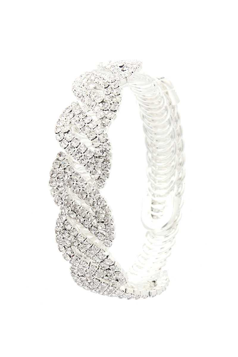 Twisted Flexible Rhinestone Bracelet