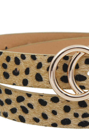 Stylish Leopard Fur Belt