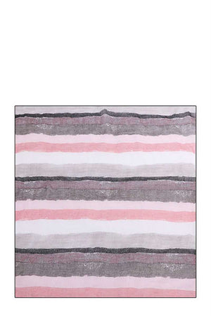 Chic Water Color Stripe Print Scarf