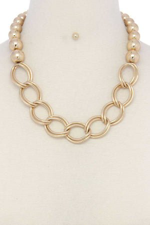 Chunky Ball And Chain Link Short Necklace
