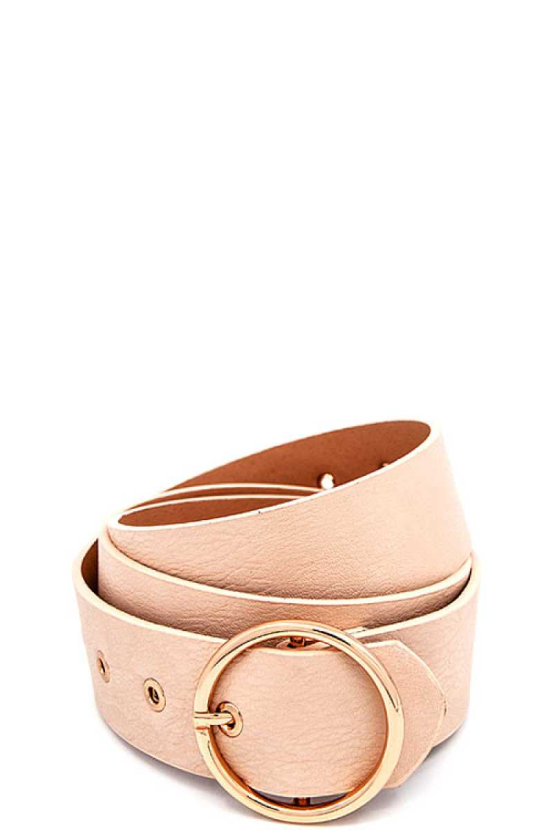 Round Buckle Frommet End Fashion Belt
