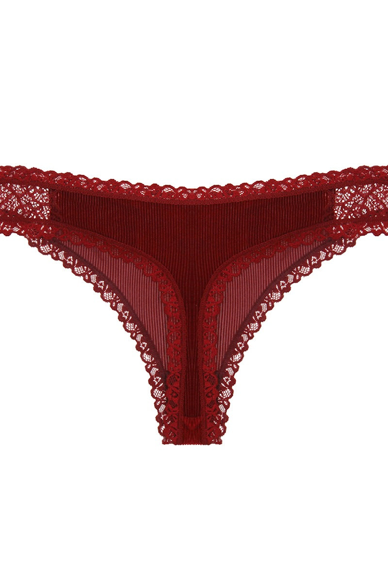 Velvet And Lace Thong