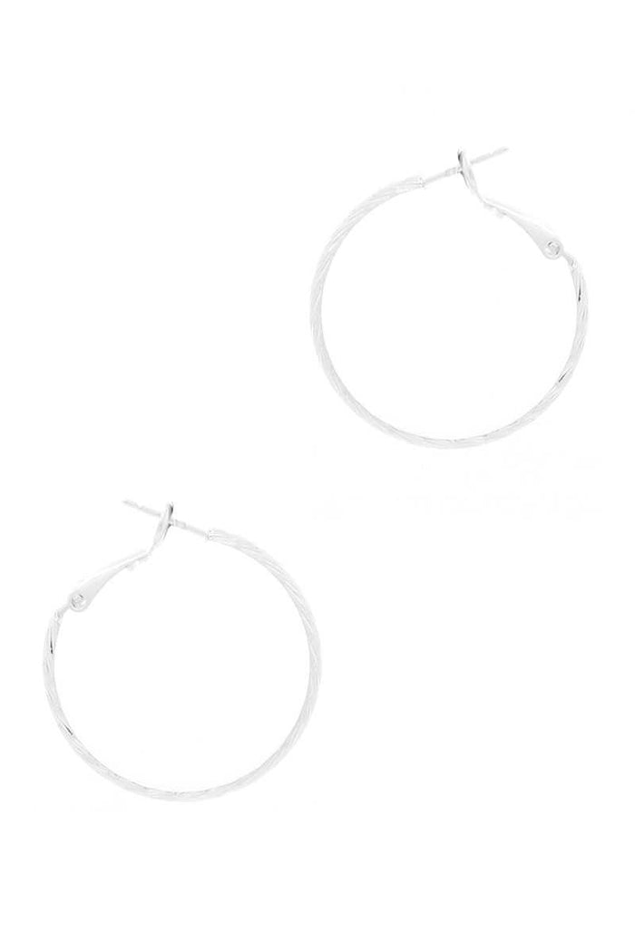 Metal Basic Hoop Earring