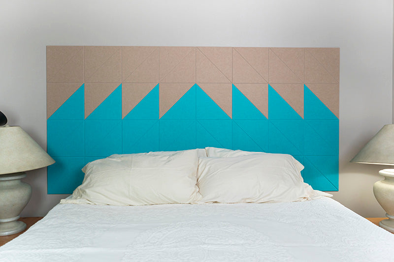 Aqua Cashmere Headboard Felt Right Design