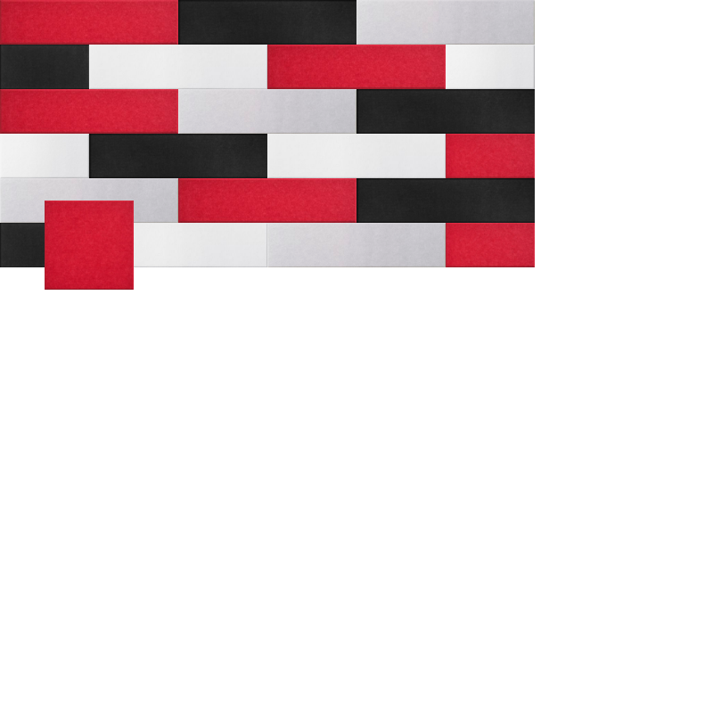 Red white and black Design