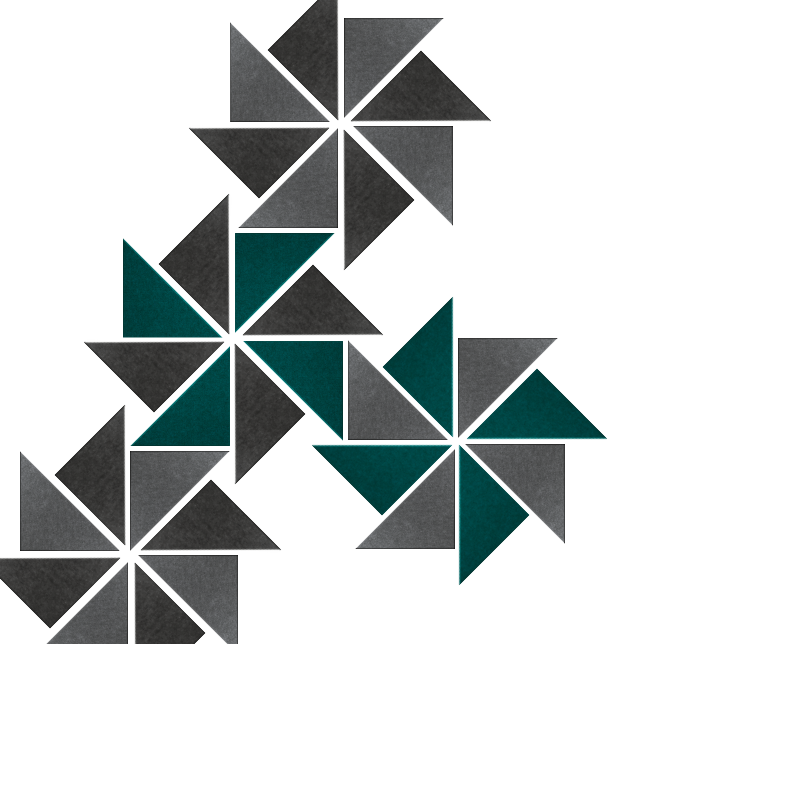 Grey & Emerald Triangles Design