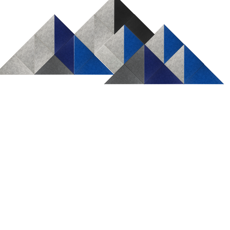 Blue and black mountain Design