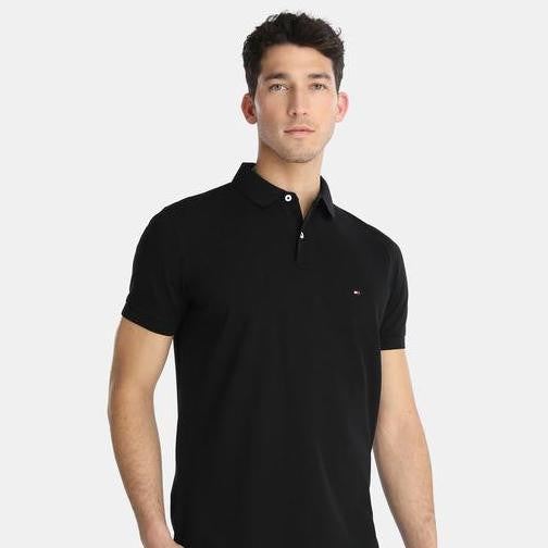 TH Polo Shirt Black Slim Fit