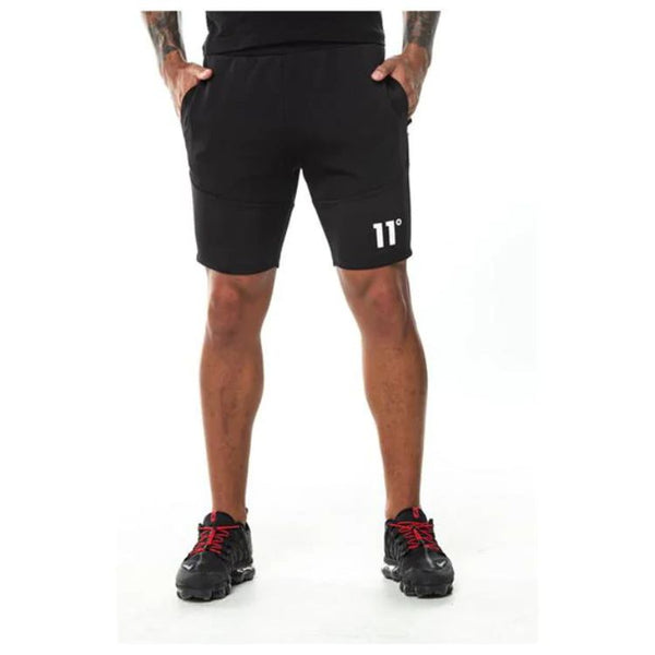 11 Degrees Quick Dry Black Shorts