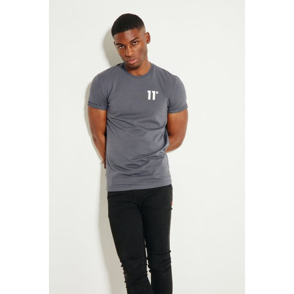 11 Degrees Quick Dry Grey T-Shirt