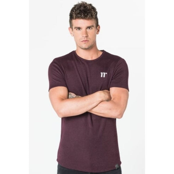 11 Degrees Quick Dry Burgundy T-Shirt
