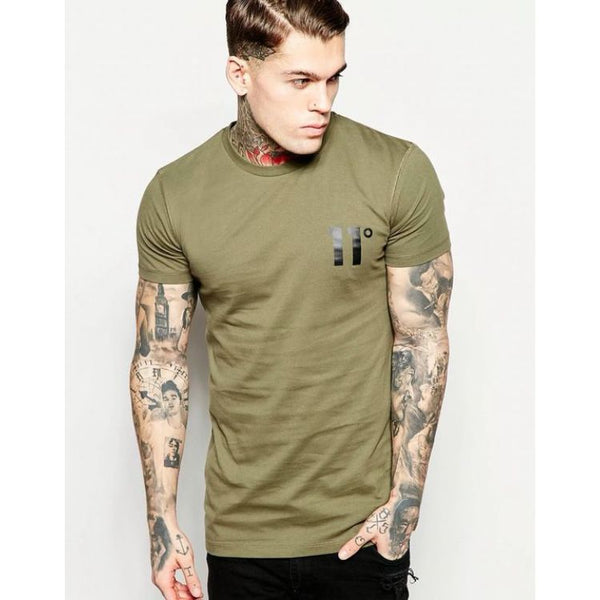 11 Degrees Quick Dry Olive T-Shirt