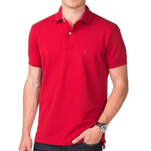TH Polo Shirt Summer Red Slim Fit