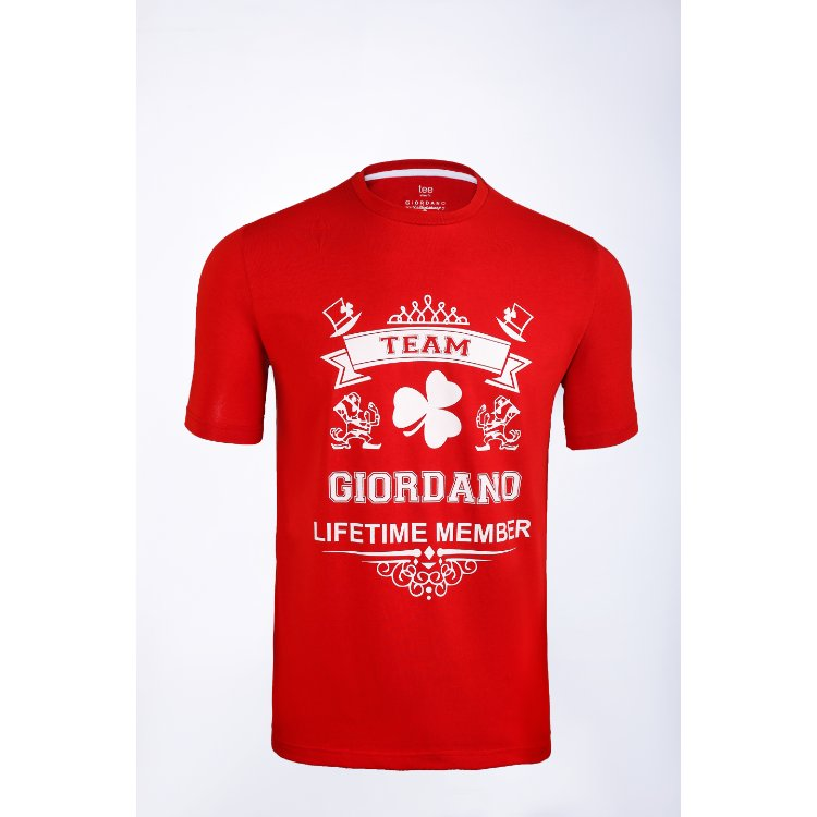 Gdno Team Dark Red Crew Neck T-Shirt