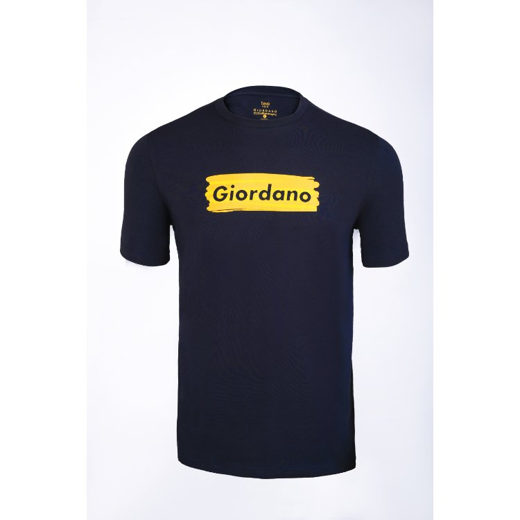Gdno Navy Blue Crew Neck T-Shirt