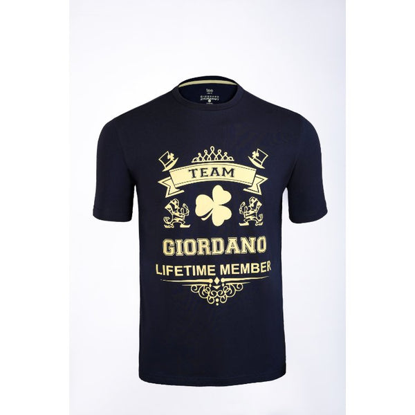 Gdno Team Navy Blue Crew Neck T-Shirt