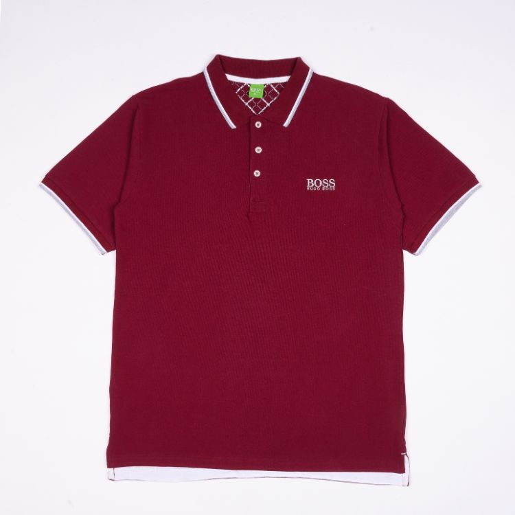 HB Tipping Polo Shirt Maroon