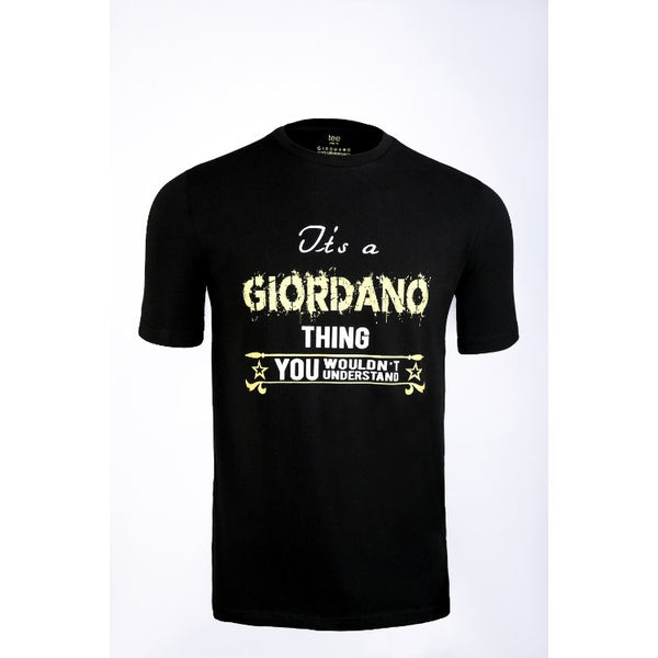 Gdno Printed Black Crew Neck T-Shirt