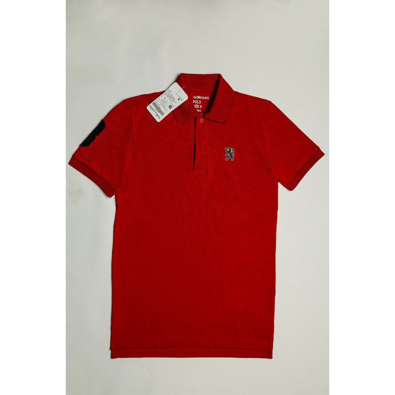 Giordano Dark Red Polo Shirt