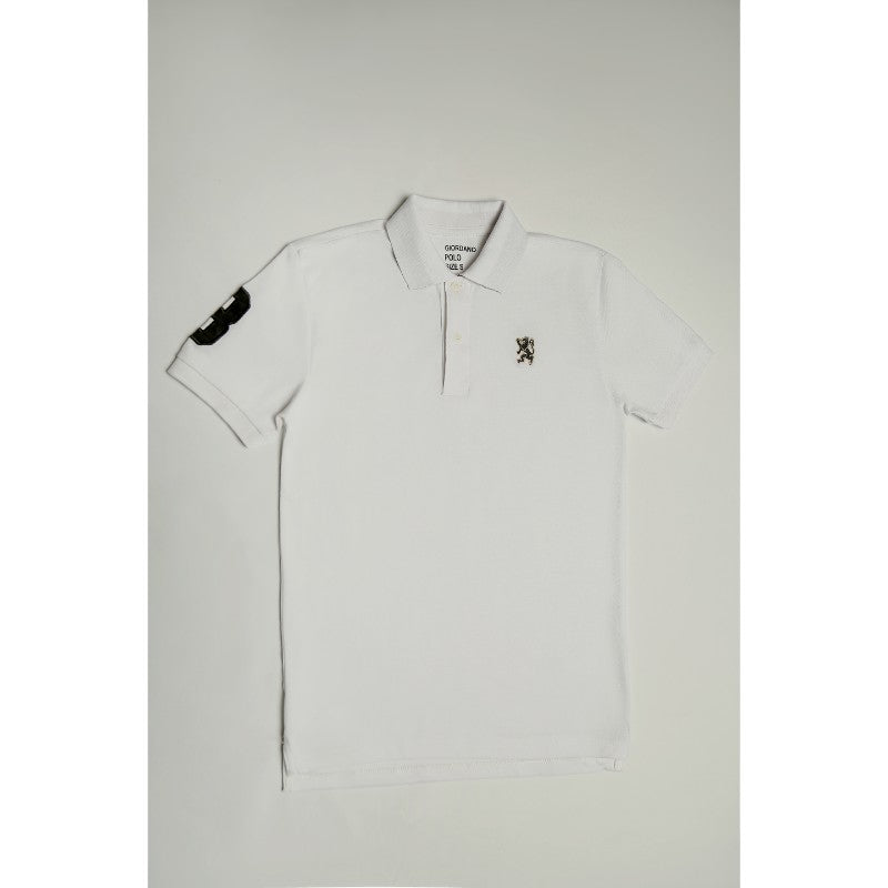 Giordano Plain White Polo Shirt