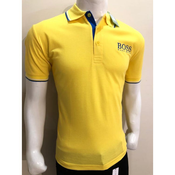 HB Premium Tipping Polo Shirt Yellow