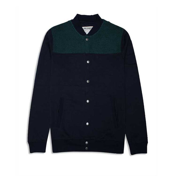Jk & Jns Button Down Sweater - Black and Green
