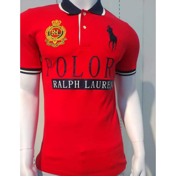 RL Big Pony Contrast Collar Polo Red