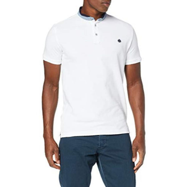SF Mao Polo Shirt White