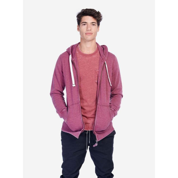 A.L.C.O.T.T Basic Hooded Zipper Maroon