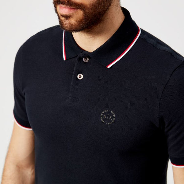 AX Tipping Polo Shirt Black