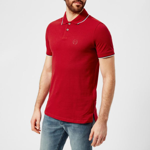 AX Tipping Polo Shirt Red