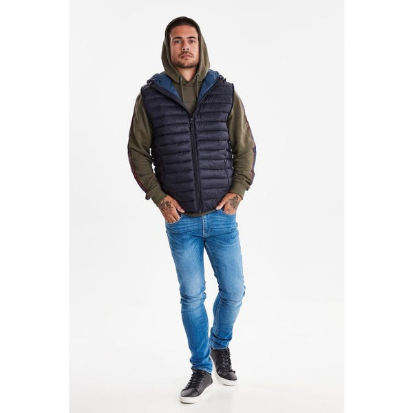 Blnd Puffer Sleeveless Jacket Navy