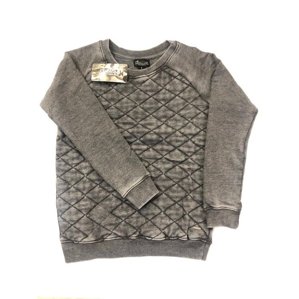 Women Block Sweatshirt Grey
