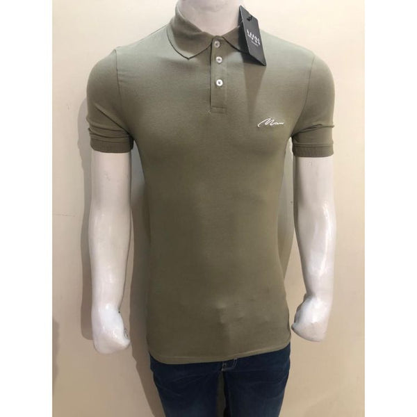 BHMAN Muscle Fit Polo Shirt Olive