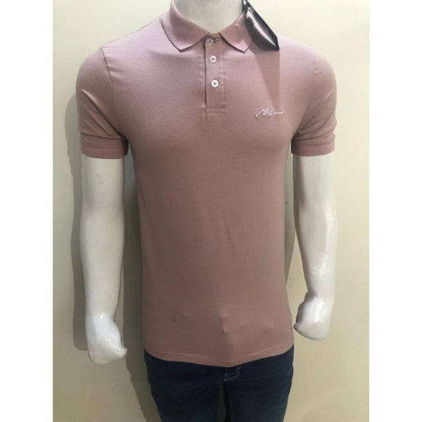 BHMAN Muscle Fit Polo Shirt Pink