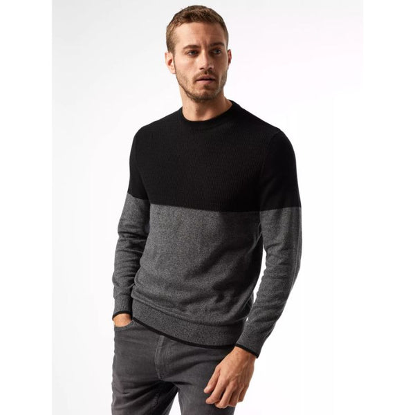 B.U.R.T.O.N Black And Grey Colourblock Jumper