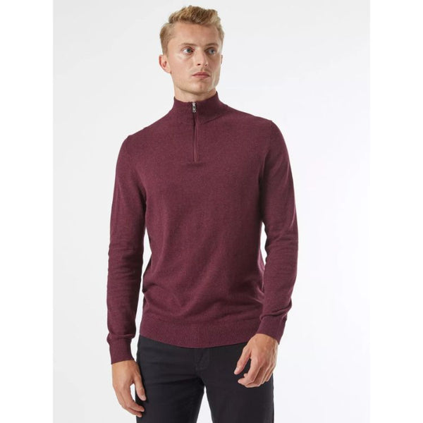 B.U.R.T.O.N Twist Half Zip Jumper Burgundy