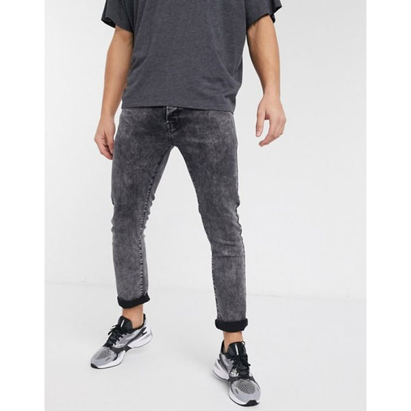 Crpp Denim Slim Fit Jeans - Grey