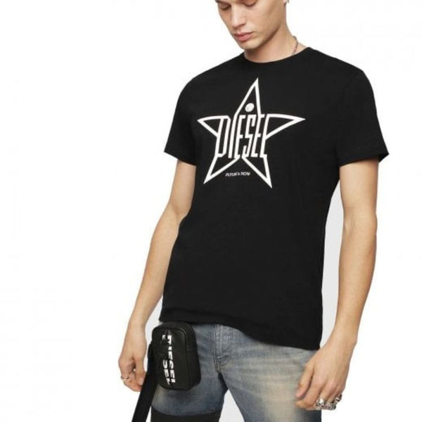 Diesl Crew Neck Star T-Shirt Black