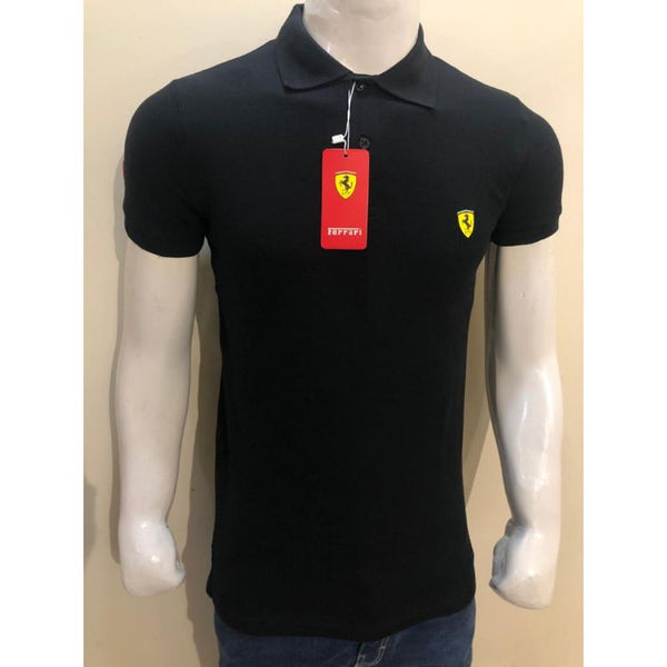 Frrari Pique Polo Shirt Black