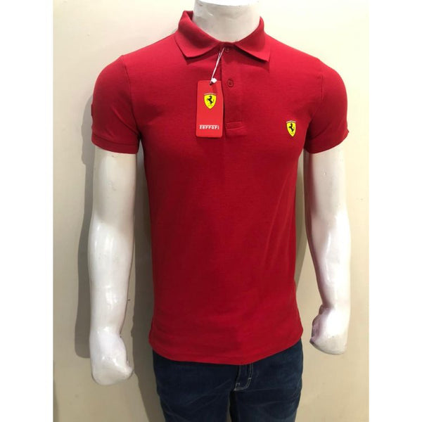 Frrari Pique Polo Shirt Red