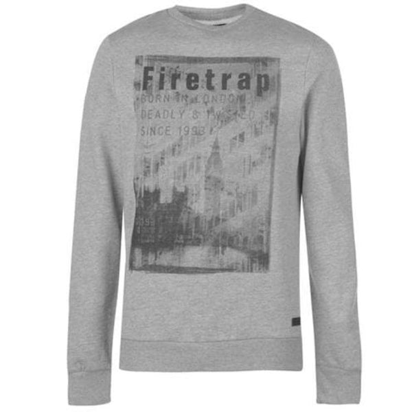 Firtrap Printed Grey Sweatshirt