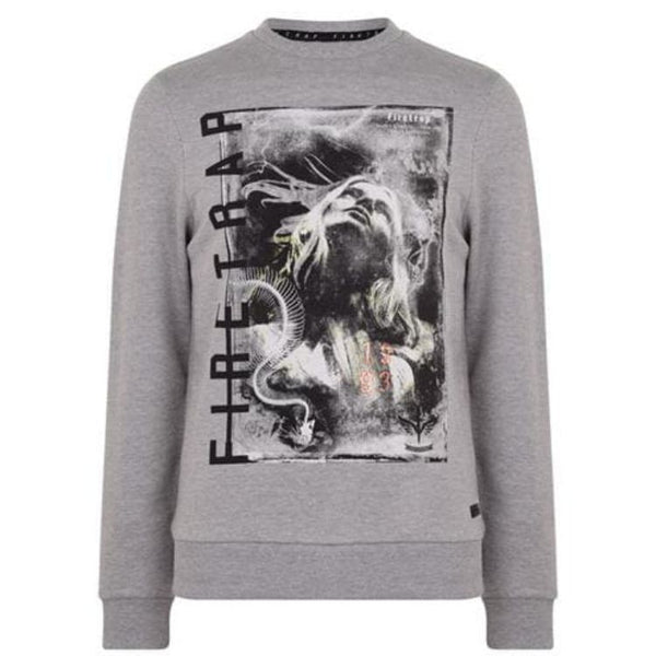 Firtrap Graphic Grey Sweatshirt