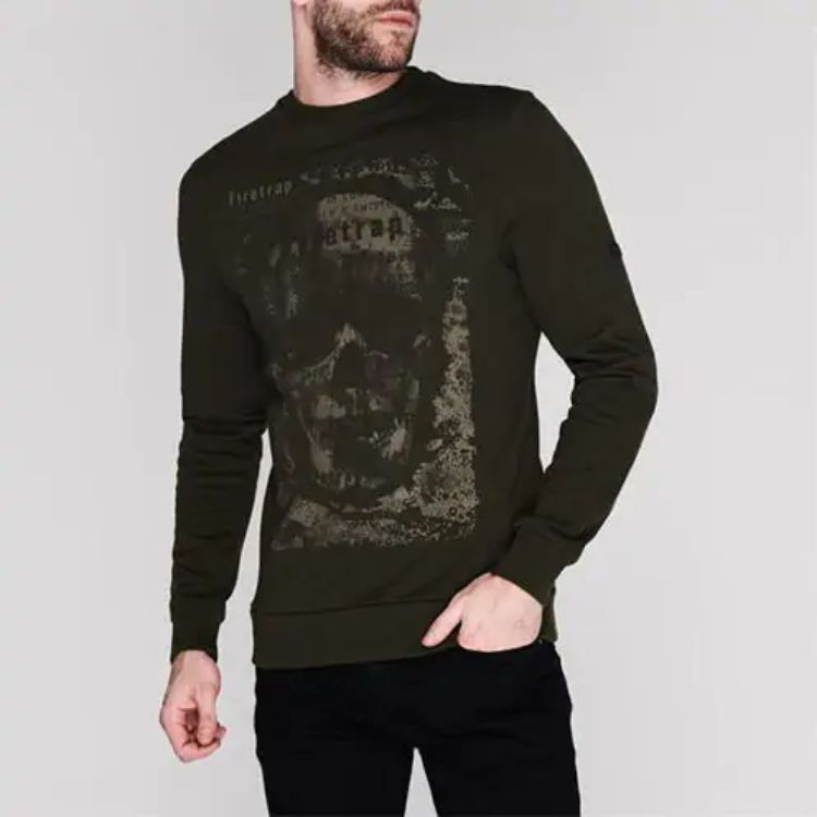 Firtrap Graphic Olive Green Sweatshirt