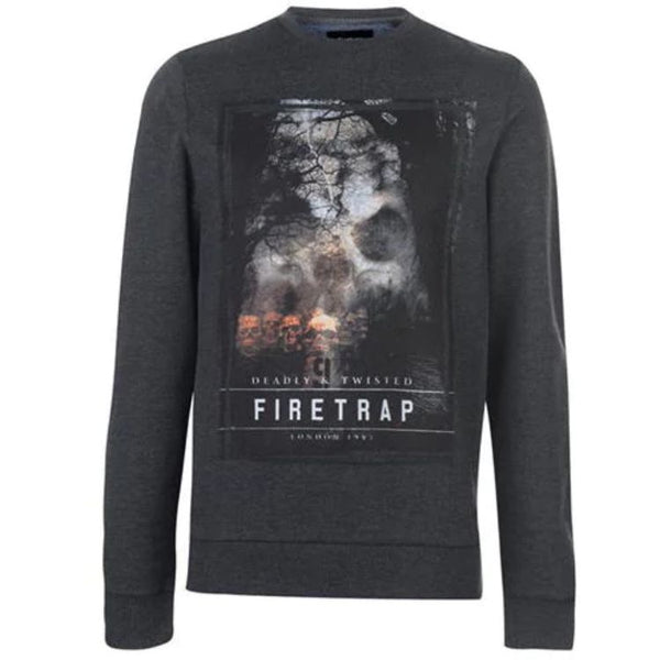 Firtrap Graphic Dark Grey Sweatshirt