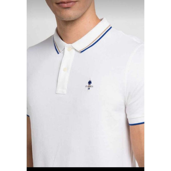 Gdno Tipping Polo Shirt White
