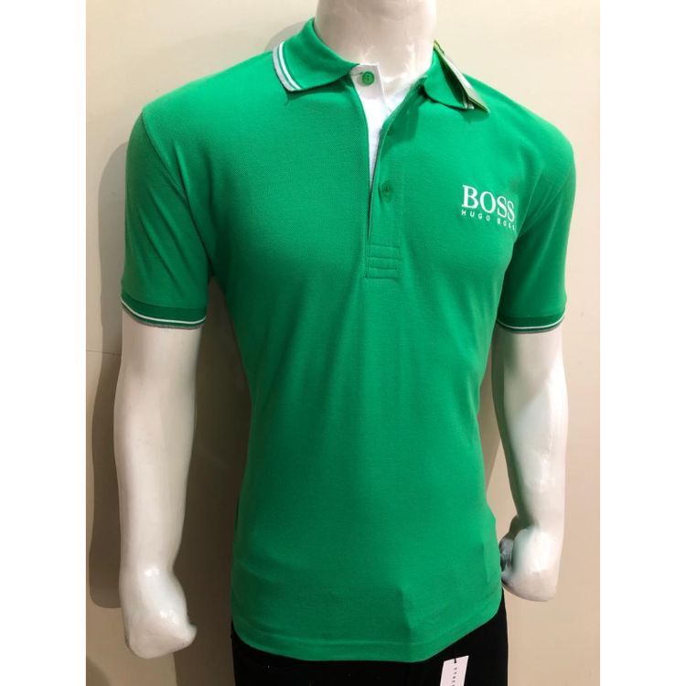 HB Premium Tipping Polo Shirt Green